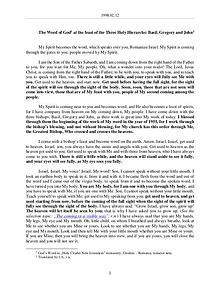 The Word of God in Romania hree Holy Hierarchs Basil, Gregory and John