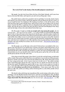 The Word of God in Romania mbrance of the dreadful judgment