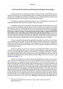The Word of God in Romania omanian Christianity (Pentecost), the second day