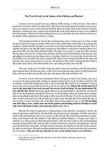 The Word of God in Romania Publican and Pharisee