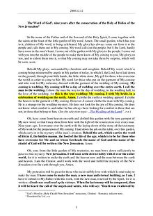 The Word of God in Romania  consecration of the Holy of Holies of the New Jerusalem