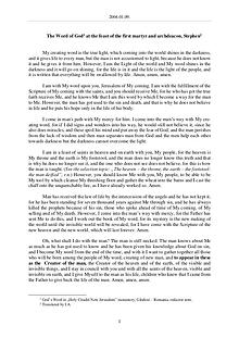 The Word of God in Romania irst martyr and archdeacon, Stephen
