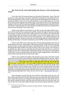 The Word of God in Romania fter Passvoer, of the myrrh-bearing women