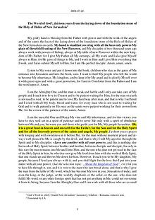 The Word of God in Romania the laying down of the foundation stone of the Holy of Holies of New Jerusalem