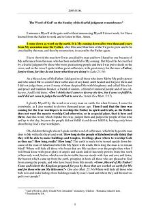 The Word of God in Romania fearful judgment remembrance