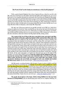 The Word of God in Romania mbrance of the fearful judgment