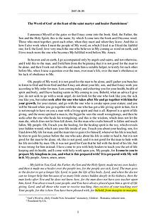 The Word of God in Romania aint martyr and healer Panteleimon