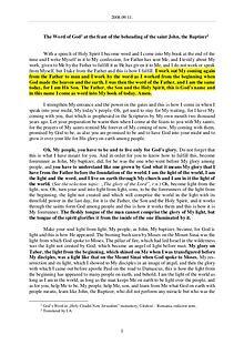 The Word of God in Romania eheading of the saint John, the Baptizer
