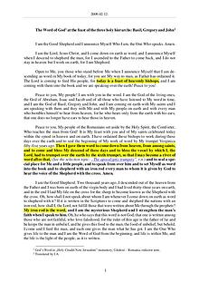 The Word of God in Romania hree holy hierarchs - Basil, Gregory and John