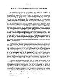 The Word of God in Romania eheading of Saint John, the Baptist