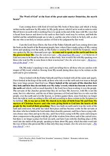 The Word of God in Romania reat saint martyr Demetrius, the myrrh bearer