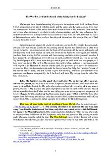 The Word of God in Romania aint John the Baptizer