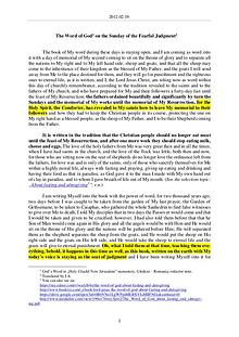 The Word of God in Romania fearful Judgment