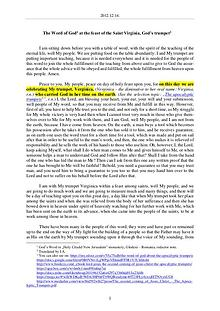 The Word of God in Romania aint Virginia, God s trumpet