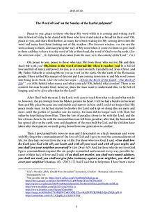 The Word of God in Romania dreadful judgment