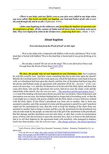 The Word of God about baptism