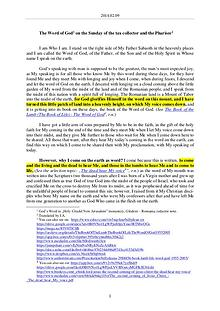The Word of God in Romania tax collector and the Pharisee