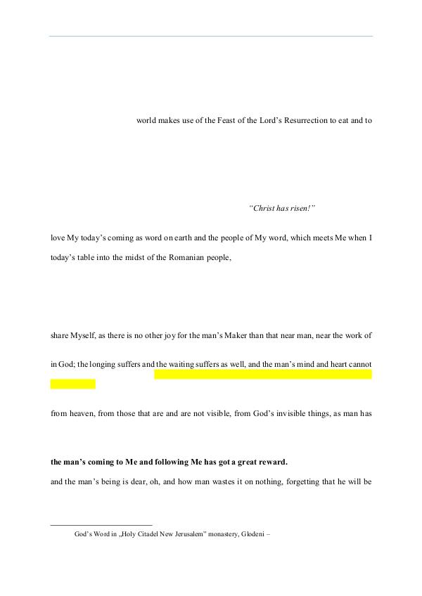 The Word of God in Romania fter Passover, of the holy prudes 2014.05.04 - The Word of God on the third Sunday a