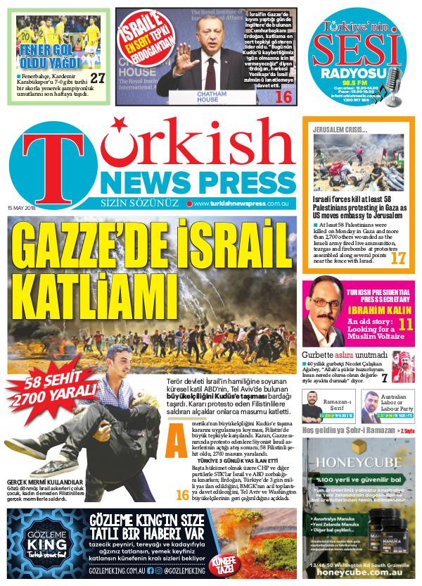 Turkish News Press - 15 May 2018 / Volume 4 tnews180515p001