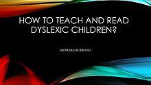 DYSLEXIA IN KIDS