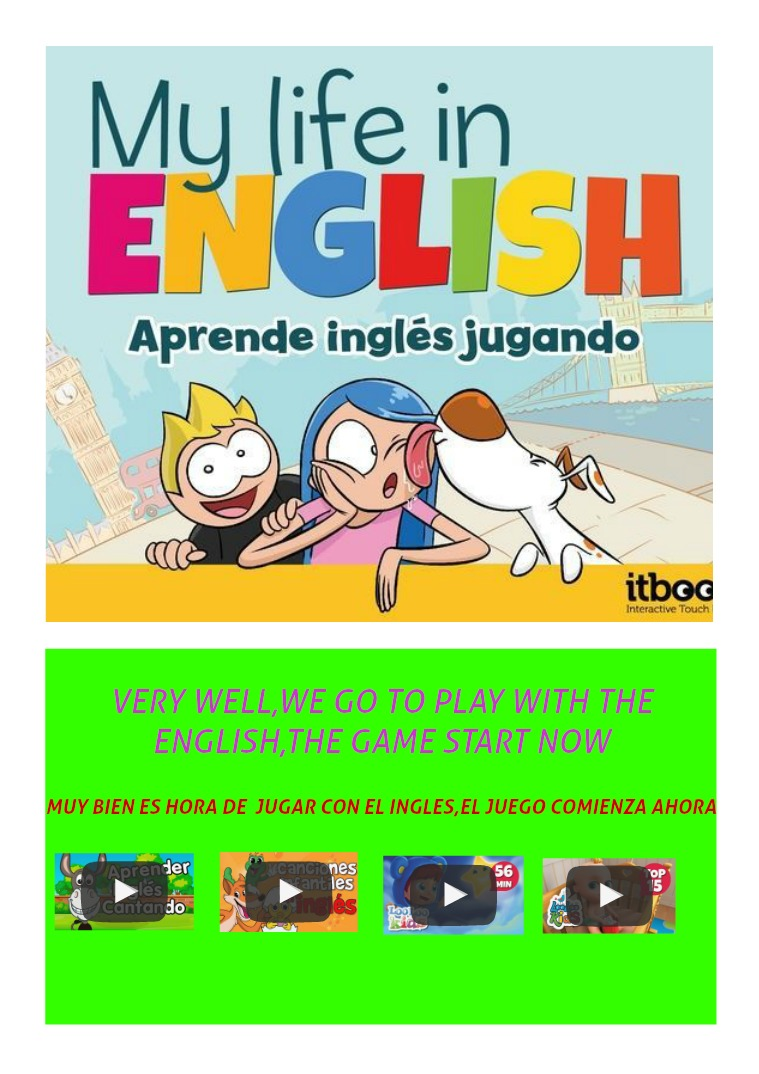 MY LIFE IS ENGLISH REVISTA INFATIL