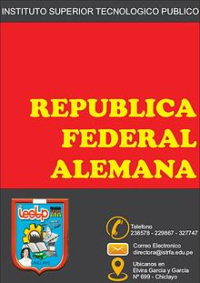 "REVISTA INSTITUCIONAL ""REPUBLICA FEDERAL ALEMANA"""