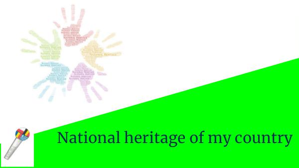 eTwinning Project e-book_National heritage of may country