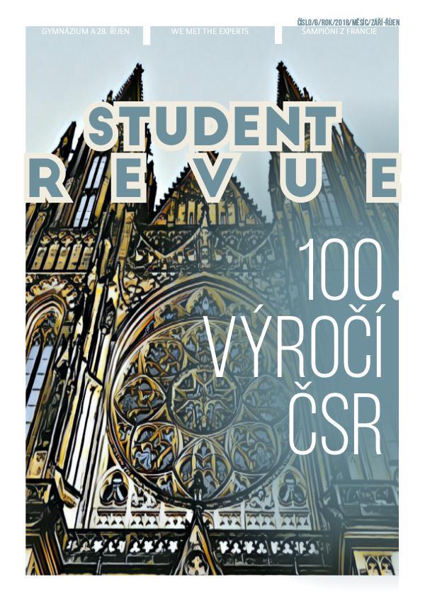 Student Revue 100 let čsr září-říjen září-říjen