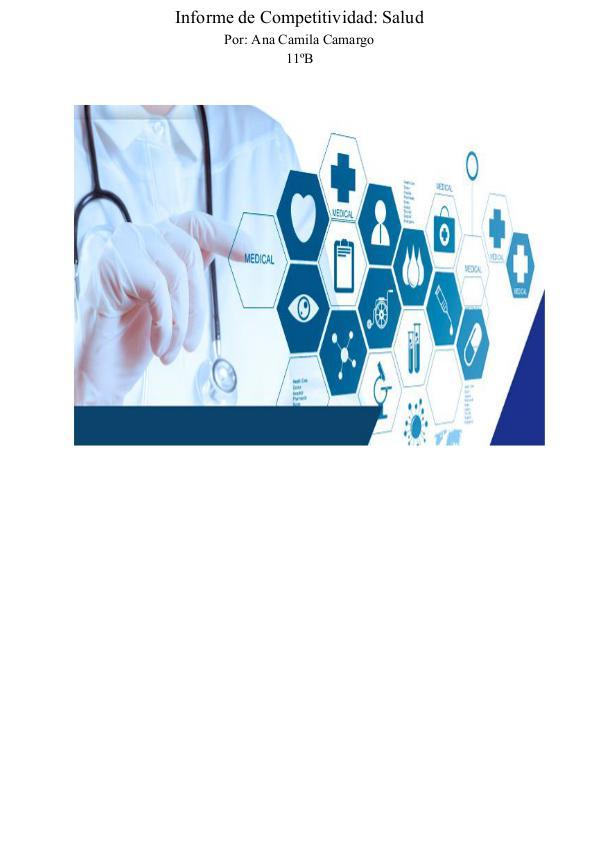 Informe de Competitividad: Salud Informe de competitividad de medicina  (4)