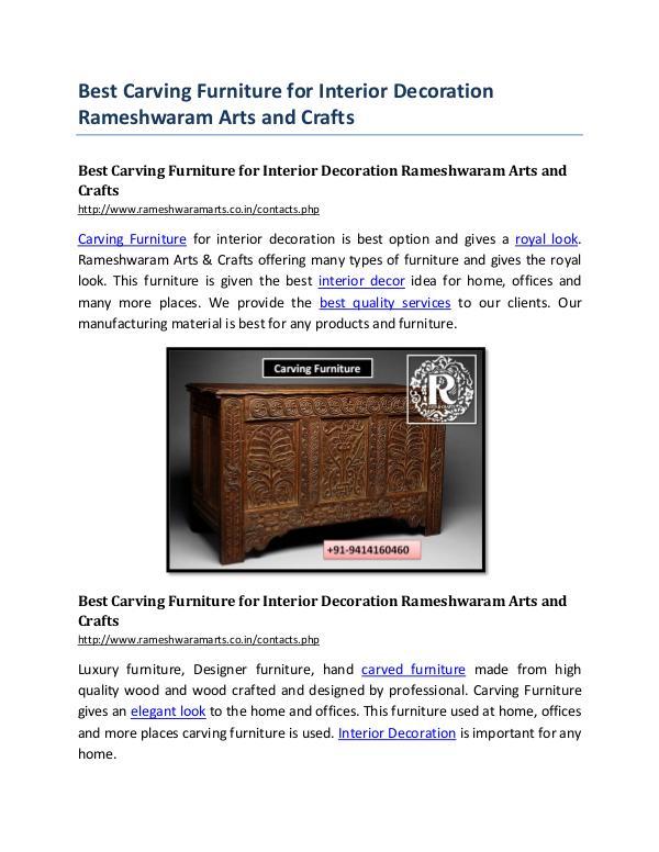 Best Carving Furniture for Interior Decoration Rameshwaram Arts and C Best Carving Furniture for Interior Decoration Ram