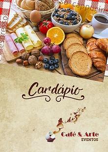 Cardápio Café & Arte Eventos