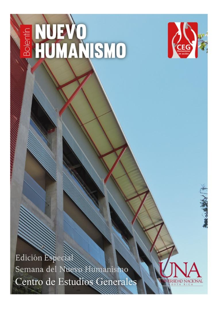 IV Edición Boletín del Nuevo Humanismo IV Edición Boletín Nuevo Humanismo del CEG.