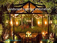 Landscape Lighting Installation
