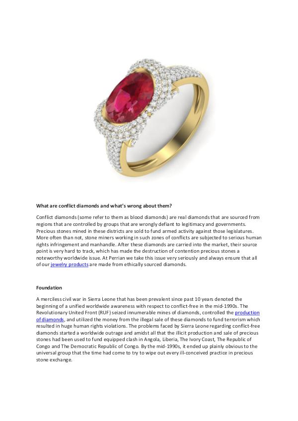 What are conflict diamonds and what's wrong about