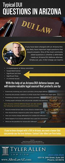 Typical DUI Questions in Arizona