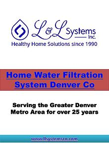 Water Treatment Companies Denver