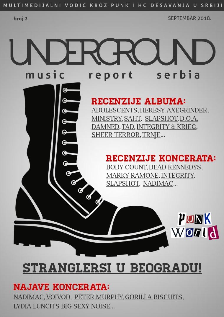 Underground Music Report Serbia: Punk i HC septembar 2018