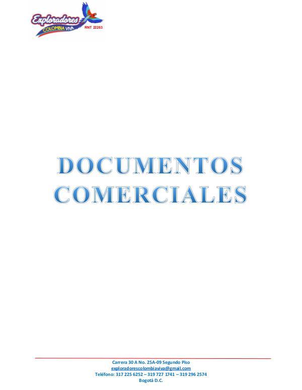 Documentos Comerciales Documentos Comerciales