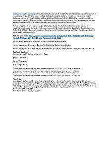 Behavioral Health Software Market Forecast 2018-2023 & Industry Outlo