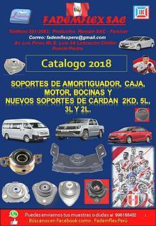 CATALOGO DE FADEMFLEX  2018
