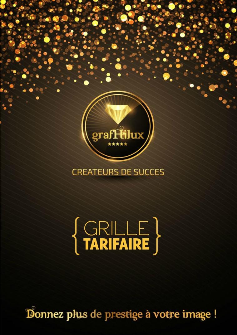 GRAFHILUX GRILLE TARIFAIRE