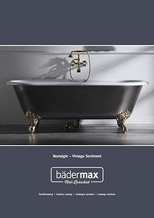 Bädermax Katalog für Ihre hochwertige Nostalgie-Badausstattung