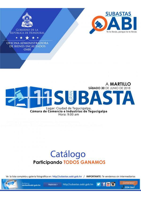 CATALOGO GRAN SUBASTA 11 A MARTILLO Catalogo Undecima (11) gran Subasta Presencial a M