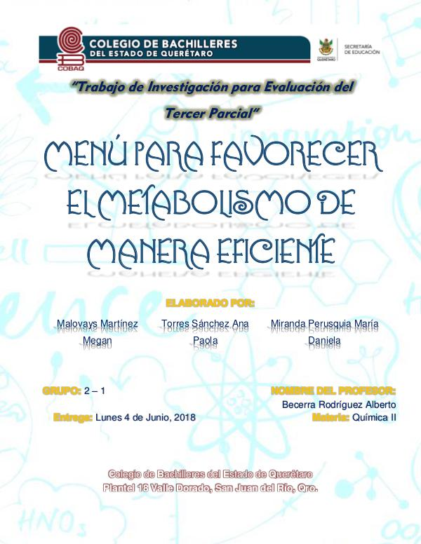 Química II TRABAJO FINAL DE LAS PROTEINAS