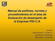 Manual de Politicas, presentacion