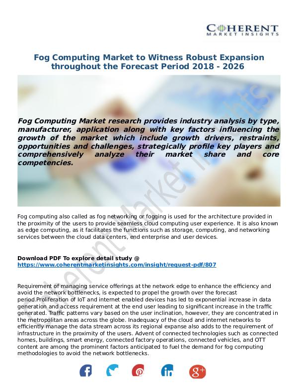 ICT RESEARCH REPORTS Fog-Computing-Market