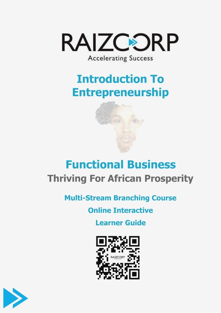 Raizcorp Functional Entrepreneurship