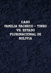 Caso famillia Pacheco-Tineo