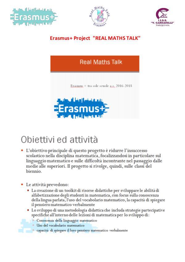 Diari di viaggio_Real Maths Talk diari di viaggio_progetto Erasmus_ Real Maths Talk