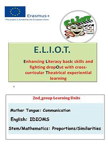 E.L.I.O.T._2nd group_ Learning Units 14 SCHOOL PARTNERS